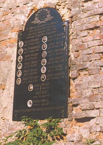 Kostel - pamětní deska - Matějovice